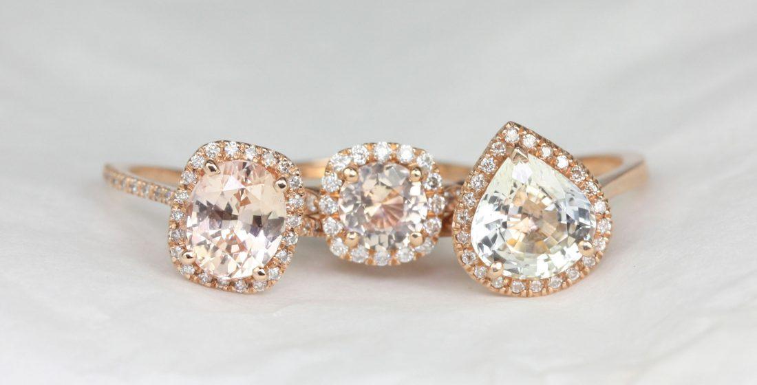 What's Trending Now: Peach Sapphire, Sunstone, Aquamarine, and More Gemstones