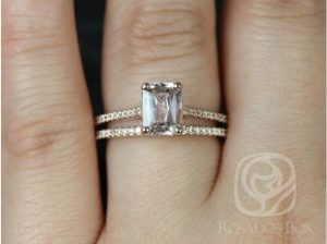 A Blake ring with 100% conflict-free diamonds around the band by Love & Promise Jewelers.