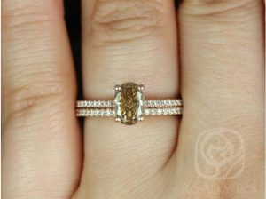 A Blake engagement ring with 100% conflict-free diamonds around the band by Love & Promise Jewelers.