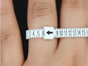 A reusable ring sizer to help you properly size your perfect ring.