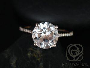 White topaz engagement ring