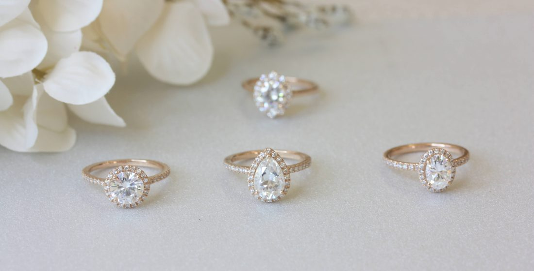 Celestial Engagement Rings: The Halo Setting