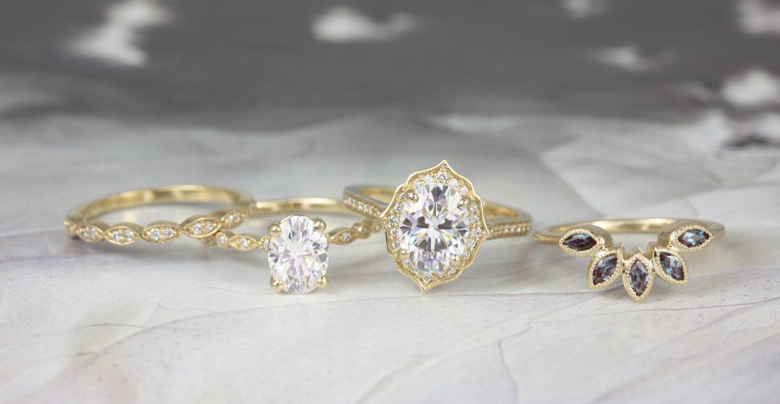 Unique milgrain rings from Love & Promise Jewelers