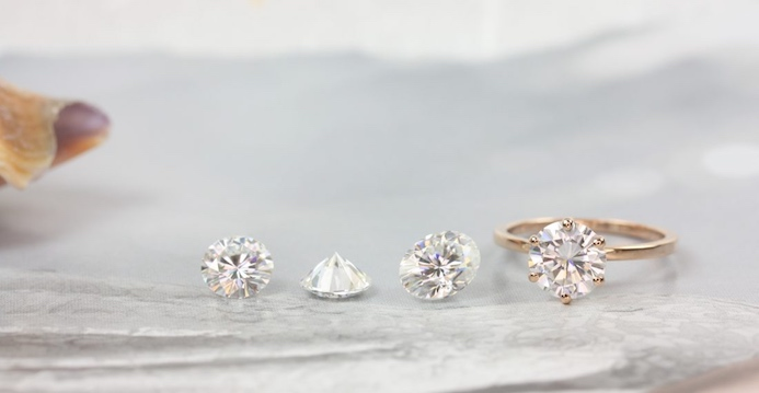 Beautiful moissanite rings from Love & Promise Jewelers