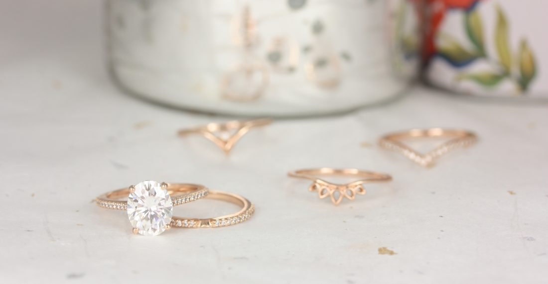 Diamond rings with unique designs by Love & Promise Jewelers