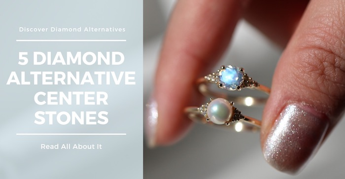 Diamond alternative rings by Love & Promise Jewelers.