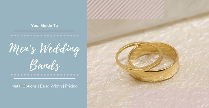 Thin and thick band men's wedding rings by Love & Promise Jewelers.
