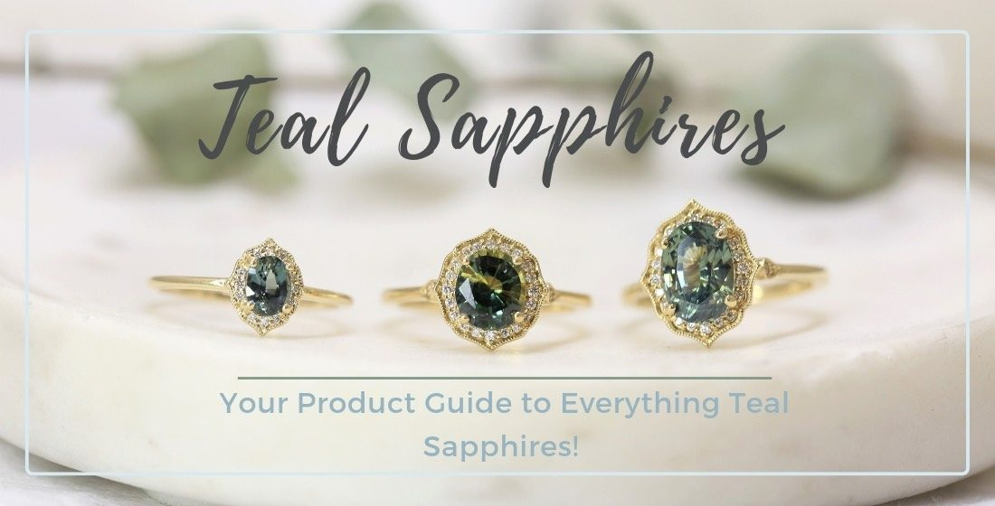 Teal sapphires