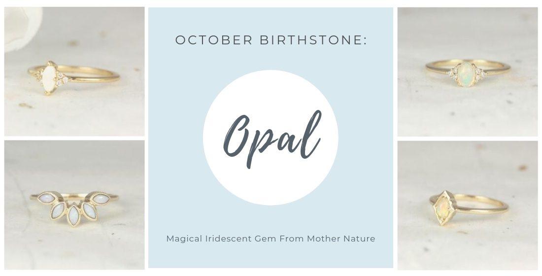 October birthstone 4 opal rings