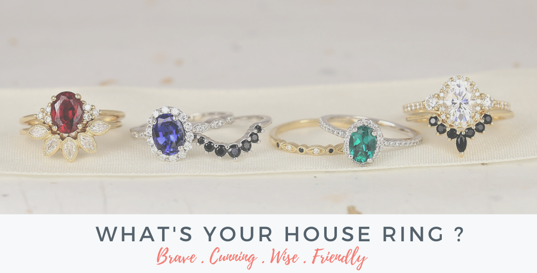 Rings that match your Harry Potter house.
