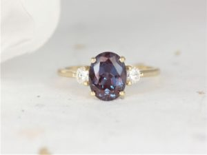 Alexandrite Gloria Engagement Ring