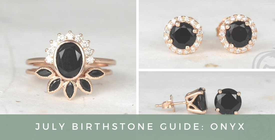 Onyx ring set and onyx earrings