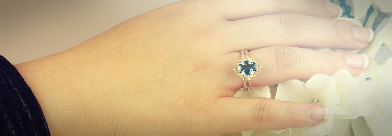 Teal Sapphire Rings