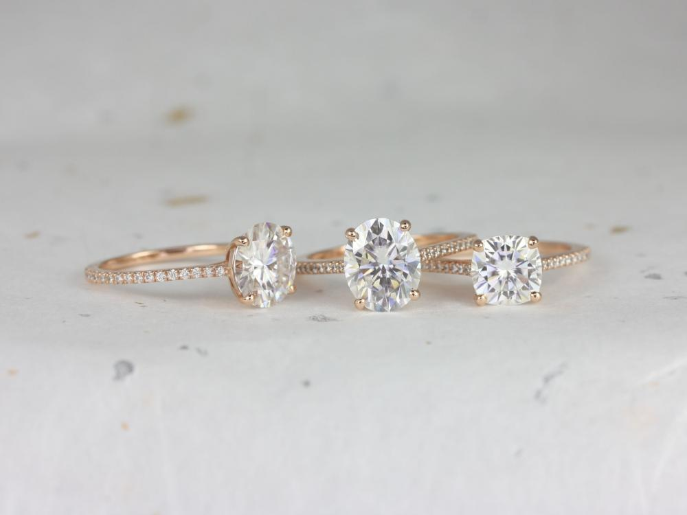 Three side stone engagement rings.