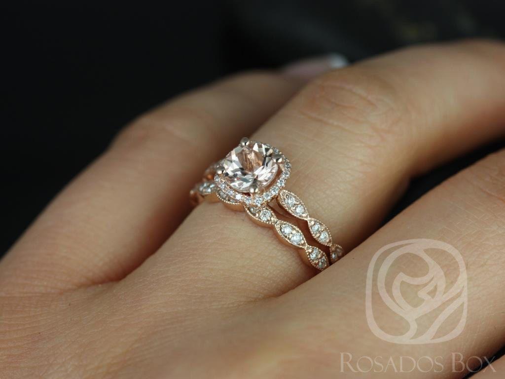 https://www.loveandpromisejewelers.com/media/catalog/product/cache/1b8ff75e92e9e3eb7d814fc024f6d8df/c/h/christie_6mm_14kt_rose_gold_morganite_and_diamonds_cushion_halo_with_milgrain_wedding_set3.jpg