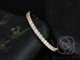 Rosados Box 14kt Matching Band to Tabitha or Toni 9x7mm/10x7mm Diamonds HALFWAY Eternity Band