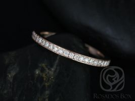 Rosados Box 14kt  Rose Gold Hollie Halfway Eternity Band