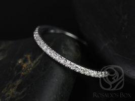 Rosados Box Callie 14kt White Gold Glitter Pave Diamond Halfway Wedding Band