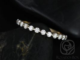Rosados Box Petite Naomi / Petite Bubble & Breathe 14kt Yellow Gold Diamond HALFWAY Eternity Band