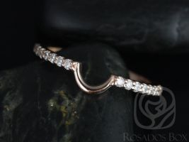 Rosados Box 14kt Matching Band to 8x6mm Bridgette/Britney Diamonds HALFWAY Eternity Band