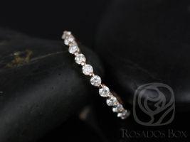 Rosados Box Petite Naomi/ Petite Bubble & Breathe 14kt Rose Gold Diamond HALFWAY Eternity Band