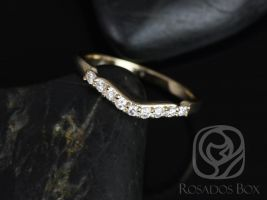 Rosados Box 14kt Yellow Gold Matching Band to Carla 9&6mm Diamonds SHORT of HALFWAY Eternity Band