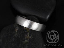 Rosados Box Wes 7mm Cobalt Classic Half Round Satin/Matte Finish Band