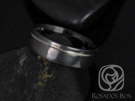 Rosados Box Luke 7mm Black Zirconium Asymmetrical Striped Pipe Band