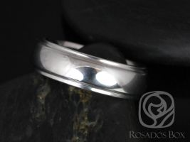 Rosados Box Robert 7mm Cobalt Raised Edge Half Round High Finish Band