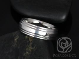 Rosados Box Xander 7mm Cobalt Double Raised Edge High Finish Band