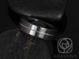 Rosados Box Mark 7mm Black Zirconium Symmetrical Stripe Pipe Band