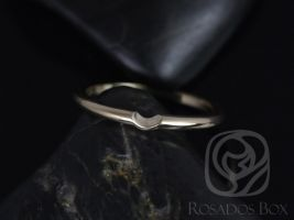 Rosados Box 14kt Yellow Gold Matching Band to Skinny Webster 7.5mm Notched Band
