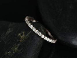 Rosados Box Alice 14kt Rose Gold Diamond Almost Eternity Band