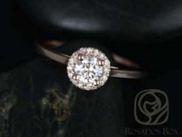 Rosados Box Amerie 4.5mm 1/3cts 14kt Rose Gold Round Diamond Halo Engagement Ring