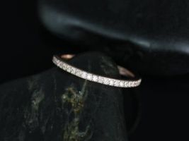 Rosados Box Ready to Ship 14kt Rose Gold Matching Band to Diana Diamond HALFWAY Eternity Band