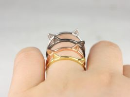 Rosados Box Meow 14kt Gold Cat Ears Cat Mom Ring