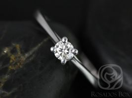Rosados Box Ready to Ship Patricia 3.5mm 14kt YELLOW Gold Round Diamond Cathedral Looped Solitaire Engagement Ring