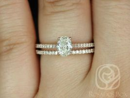 Conflict Free 0.56ct Blake 14kt Rose Gold Oval Diamond Classic Wedding Set