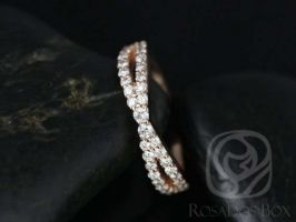 Rosados Box Ready to Ship Lima 14kt Rose Gold Infinity Diamond HALFWAY Band
