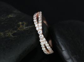 Rosados Box Lima 14kt Rose Gold Infinity Diamond Wedding Band