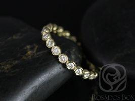 Rosados Box Original Bubbles 2.8mm 14kt Yellow Gold Round Bezel Diamond FULL Eternity Band
