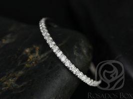 Rosados Box Platinum Matching Band to Kimberly/Catalina ALMOST Eternity Diamond Band