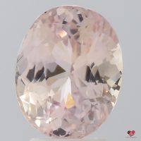 4.28cts Oval Light Peachy Blush Champagne Sapphire