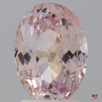 2.78cts Oval Light Peachy Blush Champagne Sapphire
