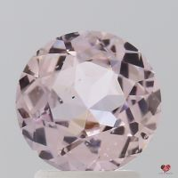 2.15cts Round Blush Champagne Sapphire