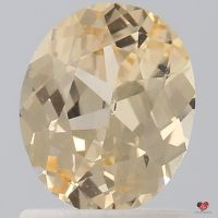 1.13cts Oval Peachy Champagne Sapphire