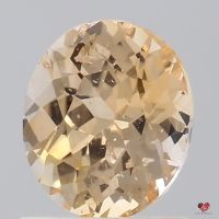 1.23cts Oval Apricot Peach Champagne Sapphire
