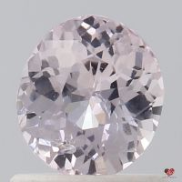 0.88cts Oval Light Peachy Pink Champagne Sapphire