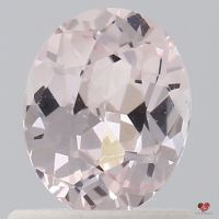 0.91cts Oval Icy Peachy Pink Champagne Sapphire