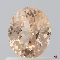 1.14cts Oval Peachy Pink Champagne Melon Sapphire